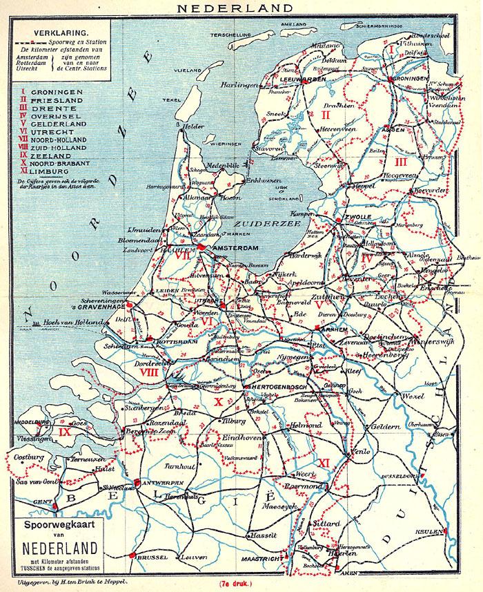 spoorlijnen kaart Langs de rails